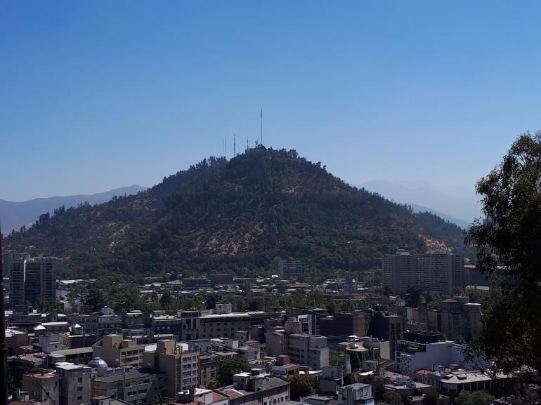 Cerro Santa Lucía - visão panorâmica